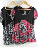 Leopard Print Top by NEW COVER Blouse Size 10 12 14 16 Pink Grey White Black