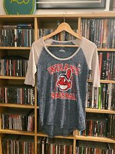 Majestic Athletics Cleveland Indians Baseball Top Women's Small