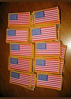 Lot of 10 United States American Patriotic Flag Patches militia arng us army