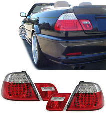 CLEAR LED REAR TAIL LIGHTS FOR BMW E46 CABRIOLET CABRIO CONVERTIBLE MODEL