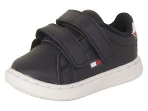 Tommy Hilfiger Toddler Boy's Iconic Court Alt Navy Sneakers Shoes