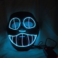 Cold Blue Color Clown Style Cosplay EL LED Mask Dance Rave Party Mask Decoration
