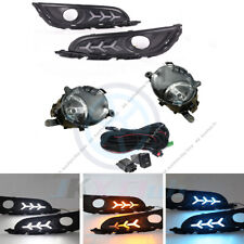 For Buick Regal 2014-2017 LED Daytime Running Lamps + Fog Lights w/ Harness Set_
