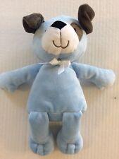 "Carters Blue Brown White Puppy Dog Plush Baby Toy style 39031 10"" , spot eye EUC"