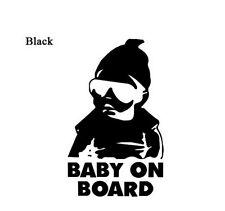 Baby on Board Aufkleber 8 x 14 cm schwarz Hangover Cool Wunschfarbe oder Name