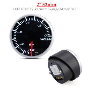 "2"" 52mm Universal Car Auto 10 Color LED Display Oil Temp Temperature Gauge Meter"