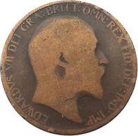 1902 HALF PENNY OF EDWARD VII. VERY NICE COLLECTIBLE COIN    #OKT285