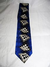 Blue Dot Abstract Art Music Computer Tech Teacher Men's Neck Tie Novelty Necktie