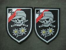 Set of 2 Skull Woven Patches
