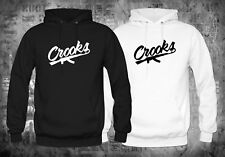 Crooks and Castles Band Logo Black White Hoodies Size XS-XL