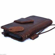 genuine retro leather case for iphone 4s 4 cover book wallet brown closer new uk