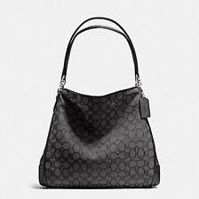 NWT $375 COACH Phoebe Black Hobo Shoulder Bag Satchel Tote Handbag Purse NEW