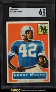 1956 Topps Football Lenny Moore ROOKIE RC #60 SGC 6 EXMT