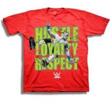 "John Cena WWE ""Hustle Loyalty Respect"" Licensed Youth Boys Red Cotton Tee Shirt"