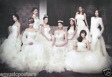 "GIRLS GENERATION ""BEAUTIFUL WHITE WEDDING GOWNS"" ASIAN POSTER-Korean K-Pop Music"