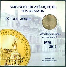 MEDAILLE MONNAIE DE PARIS  ENCARTS RIS ORANGIS 2010 TIRAGE 1000 EX