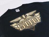 Indy 500 Mens Medium T-Shirt Black Indianapolis Racing Short Sleeve *2K