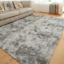 Fluffy Rugs Anti-Slip Large SHAGGY RUG Super Soft Mat Living Room Floor Bedroom