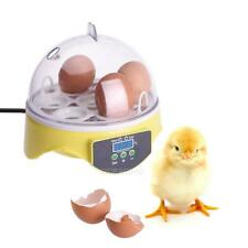 Automatic Digital 7 Egg Turning Incubator Chicken Hatcher With UK Adapter