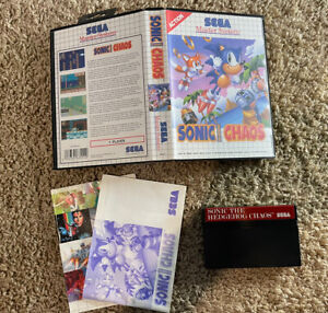 Sonic Chaos (Sega Master System) Complete Tested