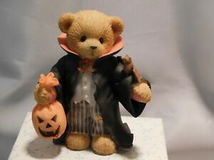 """Cherished Teddies HALLOWEEN """"DEREK"""" - Boy as Vampire - Mint with Box and Papers"""