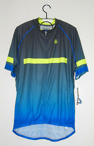 NWT Canari Men's Blue Ombre Zipped Cycling Jersey Shirt sz XXL