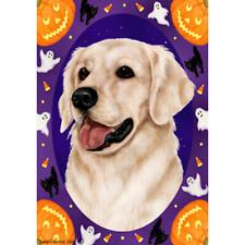 Golden Retriever White Halloween Howls Flag