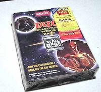 Vintage 1996 Star Wars British TAZOS Album/Force Pack w Force Card-SEALED!