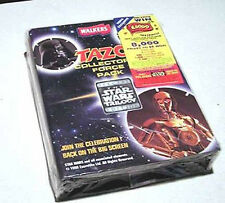 1996 Star Wars British TAZOS Album/Force Pack w Force Card-SEALED! FREE S&H