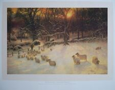 The Shortening Winters Print, Joseph Farquharson print -48x63cm, winter prints