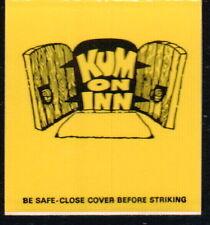 EDGEMONT PA Kum On Inn Vintage Restaurant Match Book Cover Old Bar Advertising