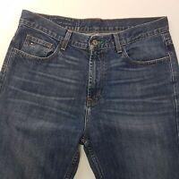 Tommy Hilfiger  Mens Jeans W33 L34 Dark Blue Regular Fit Straight High Rise