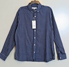 NWT Slate & Stone Club Collection Blue Check Modern Shirt Size XL MSRP $128