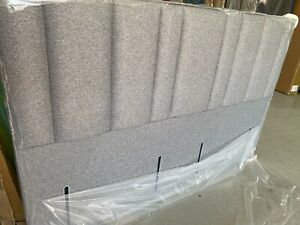 Hypnos Harriet Slim headboard 200cm emperor size tweed grey RRP £1000