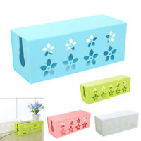 Cable Storage Box Wire Power Strip Hollow Organizer Case Home Office Desk Tidier
