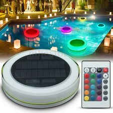 Solar RGB Underwater Lamp LED Garden Pond Swimming Pool Floating Light Fountain