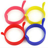 4pcs Omelette Maker Silicone Round Egg Rings Pancake Mold With Handles Egg Molds