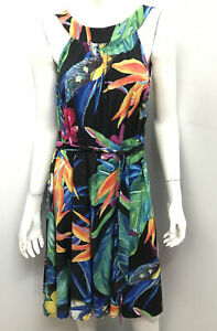 SACHA DRAKE reversible tropical Bird of Paradise dress ~ Size 10
