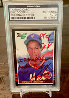 1985 Leaf Donruss #234 Dwight Gooden RC Psa Signed AUTO Dr.K Stuck Those MF Out!