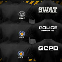 New Batman Gotham City Police Department SWAT GCPD logo T-shirt