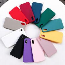 For iPhone 11 Pro Max XR XS Max 8 7 Plus X Slim Soft Liquid Silicone Case Cover