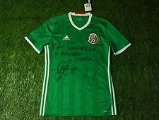 MEXICO NATIONAL TEAM 2016/2018 FOOTBALL SHIRT JERSEY HOME ADIDAS ORIGINAL SIGNED
