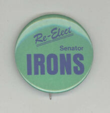EAST PROVIDENCE Rhode Island POLITICAL BUTTON Pinback PIN Button WILLIAM IRONS