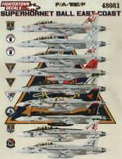 NEW 1:48 Fightertown Decals 48081 Boeing F/A-18E/F Super Hornet Ball: East Coast