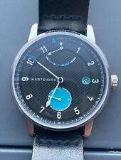 Martenero Edgemere Reserve Reloj Automático para Hombres Negro Azul 40 mm