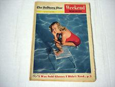 MARJIE MILLAR rare WEEKEND magazine 1955 PRINCESS MARGARET Pontiac Laurentian