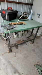 industrial sewing machine table and motor