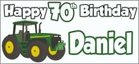 Tractor 70th Birthday Banner x 2 - Party Decorations - Personalised ANY NAME