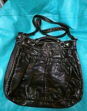 marc ecko large faux reptile black tote/crossbody bag