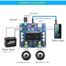 Bluetooth 5.0 TDA7498 Digital Amplifier Board 2x100W Stereo Audio Module TF  FJ